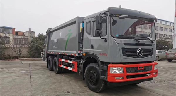 广州版东风天龙20方双联泵压缩式垃圾车