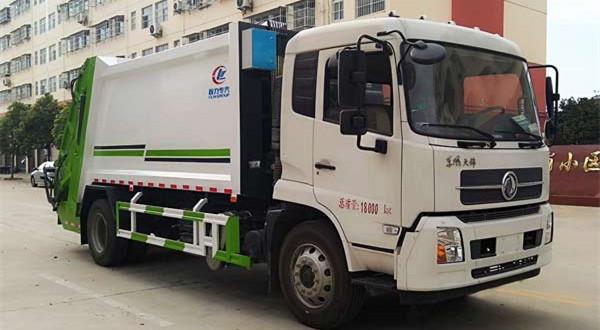 畅销车型国六东风天锦双联泵14方压缩式垃圾车