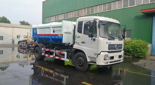 东风天锦16吨餐厨垃圾车厢可卸式垃圾车
