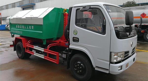 东风小多利卡6方车厢可卸式垃圾车