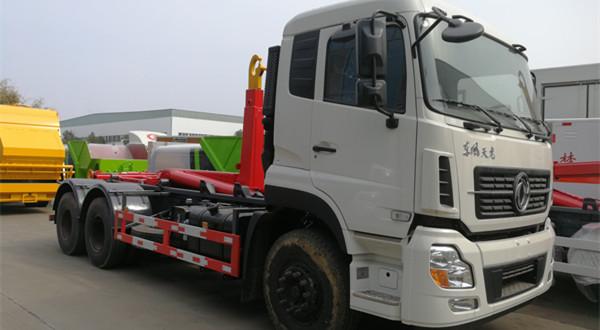 东风天龙25吨车厢可卸式垃圾车