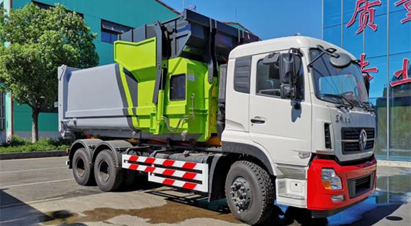 东风天龙25吨移动压缩垃圾箱车厢可卸式垃圾车