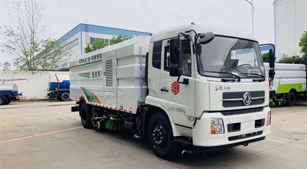 国六东风天锦8吨CLW5180TXSHL6型洗扫车(16立方)