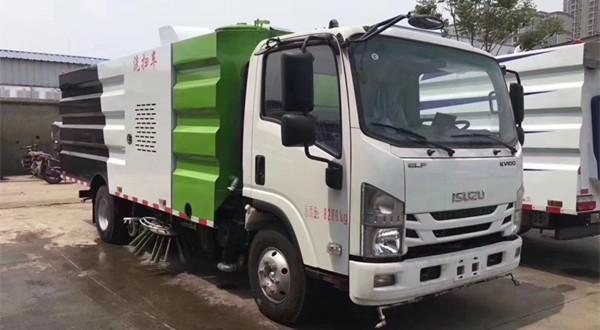 国六五十铃5吨CLW5080TXSHL6型洗扫车(10立方)