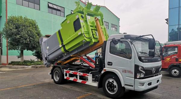 国六5吨移动式压缩垃圾箱车厢可卸式垃圾车