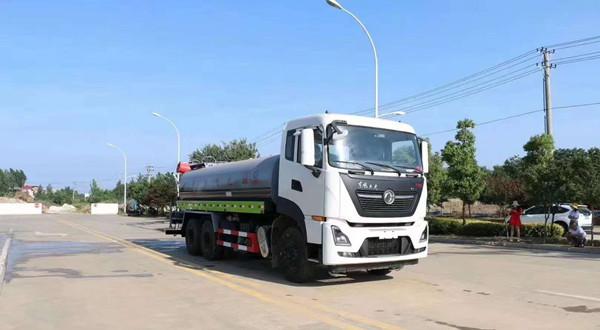 国六25吨东风天龙后双桥绿化喷洒车
